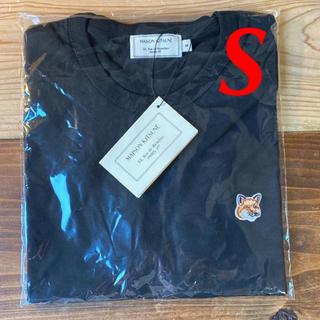 メゾンキツネ(MAISON KITSUNE')の【新品】メゾンキツネ Tシャツ ブラックS MAISON KITSUNE(Tシャツ(半袖/袖なし))