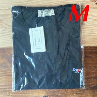 メゾンキツネ(MAISON KITSUNE')の【新品】メゾンキツネ Tシャツ ブラック M MAISON KITSUNE(Tシャツ(半袖/袖なし))
