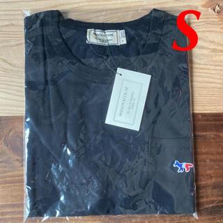 メゾンキツネ(MAISON KITSUNE')の【新品】メゾンキツネ Tシャツ ブラック S MAISON KITSUNE(Tシャツ(半袖/袖なし))