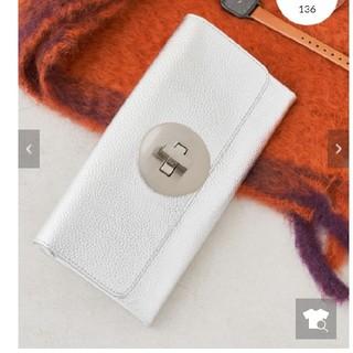 パピヨネ(PAPILLONNER)のパピヨネ 長財布  新品未使用 シルバー(財布)