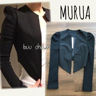 MURUA - MURUA♡パワショルショート丈ジャケット 異素材