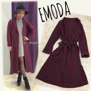 EMODA - EMODA♡vintageオーバーcheck SH チェックシャツワンピース
