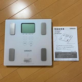 オムロン(OMRON)のオムロン 体重体組成計 HBF-215F(体重計/体脂肪計)