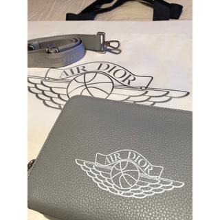 クリスチャンディオール(Christian Dior)のエアディオール ディオールジョーダンコラボ ショルダーバッグ グレー(ショルダーバッグ)