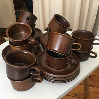 アラビア(ARABIA)のアラビアのルスカ、デミタスコーヒーカップ12こセット(食器)
