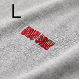 ワンエルディーケーセレクト(1LDK SELECT)のSEE SEE MUNI LOGO TEE GREY/BURGUNDY L(Tシャツ/カットソー(半袖/袖なし))