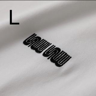 ワンエルディーケーセレクト(1LDK SELECT)のSEE SEE MUNI LOGO TEE WHITE/BLACK L(Tシャツ/カットソー(半袖/袖なし))
