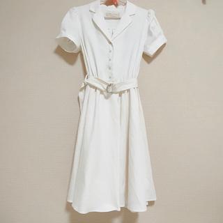 31 Sons de mode - トランテアン ソンドゥモード ワンピ 白 半袖 フレア スカート ワンピース