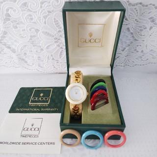 Gucci - GUCCI 腕時計 チェンジベゼル 稼働中 t232
