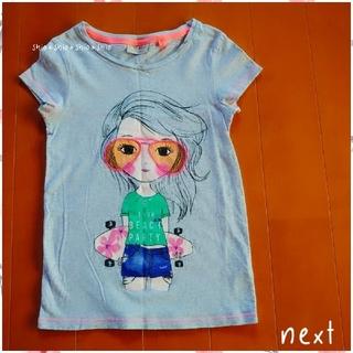 ネクスト(NEXT)の《NEXT》スパンコールの眼鏡の女の子の 半袖Tシャツ 122/120(Tシャツ/カットソー)
