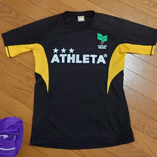 ATHLETA - ATHLETAプラシャツ ブラック☓イエローM ②