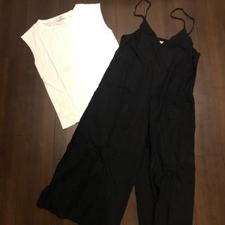 IENA - レディース SLOBE IENA キャミワイドサロペット&Tシャツセット