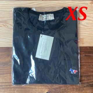 メゾンキツネ(MAISON KITSUNE')の【新品】メゾンキツネ Tシャツ ブラック XS MAISON KITSUNE(Tシャツ(半袖/袖なし))