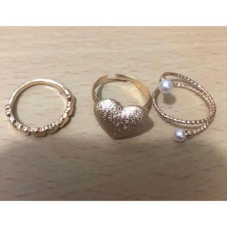 ハート 指輪 3つセット(リング(指輪))