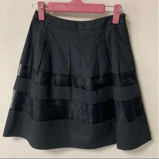 エフデ(ef-de)の黒フレアスカート  レストローズ  セシルマクビー  ミッシュマッシュ(ひざ丈スカート)