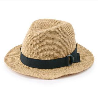 ムジルシリョウヒン(MUJI (無印良品))の無印良品 ラフィア 中折れハット 57.5~59cm・生成(麦わら帽子/ストローハット)