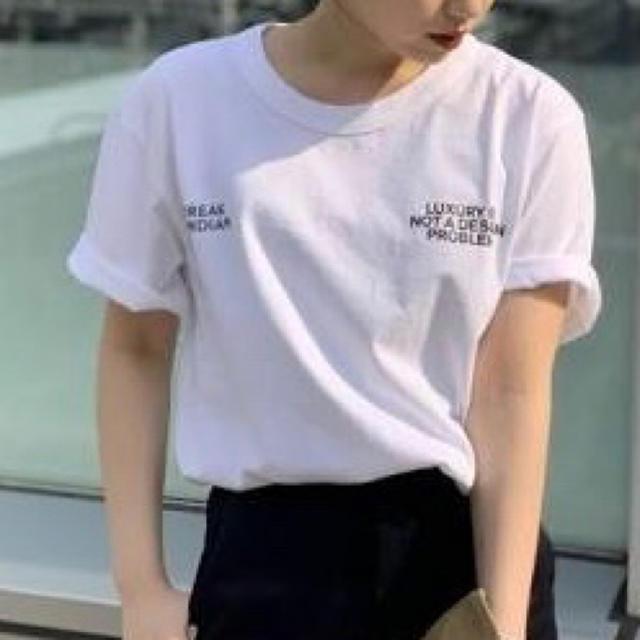 L'Appartement DEUXIEME CLASSE(アパルトモンドゥーズィエムクラス)のLOREAK レタードTシャツ レディースのトップス(Tシャツ(半袖/袖なし))の商品写真