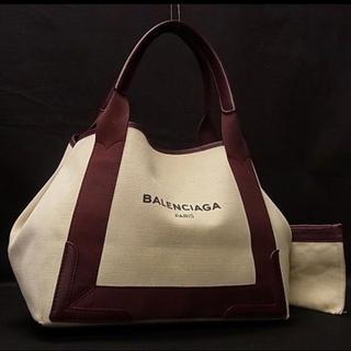 バレンシアガ(Balenciaga)の【バレンシアガ 】ボルドー Sサイズ ネイビーカバス ボルドー  トート 赤(トートバッグ)