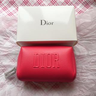 Dior - Dior ディオール レッド  ポーチ 赤