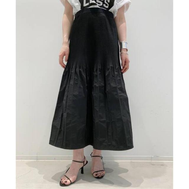 L'Appartement DEUXIEME CLASSE(アパルトモンドゥーズィエムクラス)のKALLMEYER / カルメイヤーPLEATRELEASE SKIRT  レディースのスカート(ロングスカート)の商品写真
