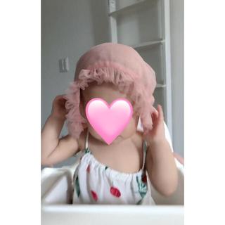 帽子 赤ちゃん ベビー ピンク 可愛い(帽子)