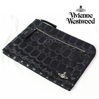 ヴィヴィアンウエストウッド(Vivienne Westwood)の 《ヴィヴィアンウエストウッド》新品 クラッチバッグ タブレット収納可 保存袋付(その他)