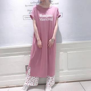 gelato pique - レア♡冷感 ロゴドレス♡ピンク