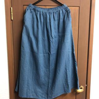 ムジルシリョウヒン(MUJI (無印良品))の無印良品 ロングスカート 麻 L(ロングスカート)