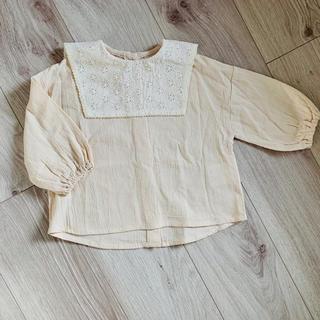 petit main - テータテート 刺繍襟ブラウス