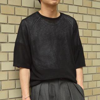 ワンエルディーケーセレクト(1LDK SELECT)のワレノード ニットハーフスリーブTシャツ(Tシャツ/カットソー(七分/長袖))