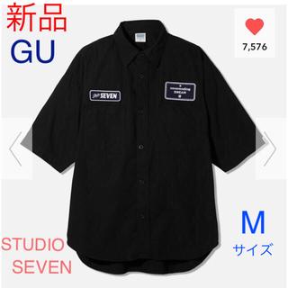 GU - 【新品】GU★STUDIO SEVEN★ワークシャツ ブラック Mサイズ