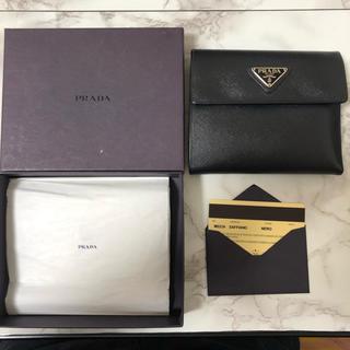 プラダ(PRADA)の美品 PRADA プラダ 二つ折り財布(折り財布)