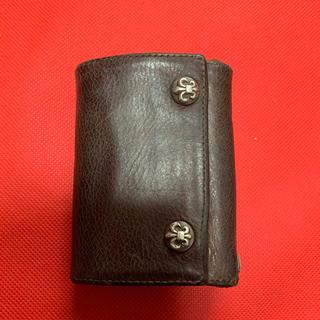 クロムハーツ(Chrome Hearts)の中古品 確実正規品 クロムハーツ 財布 珍しい茶色 クロムハーツ 3フォールド(折り財布)