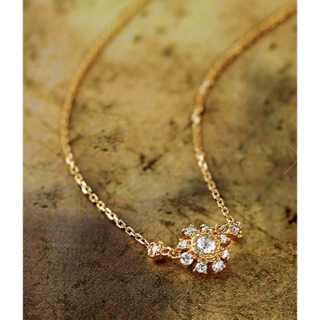アガット(agete)のagete K18 ダイヤモンド ネックレス(ネックレス)
