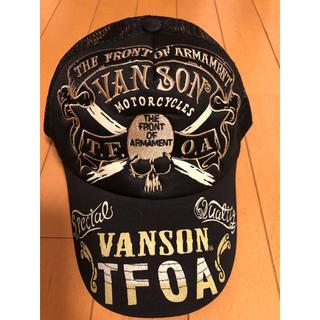 バンソン(VANSON)のVANSON バンソン メッシュキャップ スナップバック 黒 未使用(キャップ)