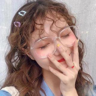 売れ筋★ クリアフレーム 伊達メガネ 小顔効果 レディース ファッション メガネ(サングラス/メガネ)