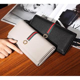 ★グレー★【新品】男女OK♪ 長財布 財布 カード  シンプル おしゃれ(長財布)