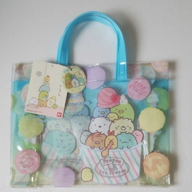 すみっこぐらし  プールバッグ  キッズ/ベビー/マタニティのこども用バッグ(レッスンバッグ)の商品写真