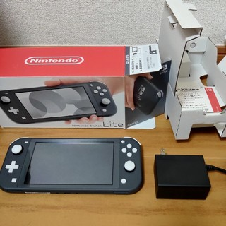 Nintendo Switch - Switch lite グレー 美品中古