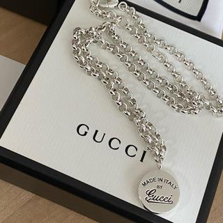 Gucci - 美品 GUCCI シルバーコインネックレス
