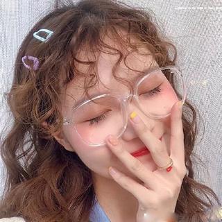 新品 伊達メガネ 透明 クリア ブルーライトカット(サングラス/メガネ)