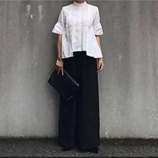 HYKE - it japan 半袖フリルシャツ 白