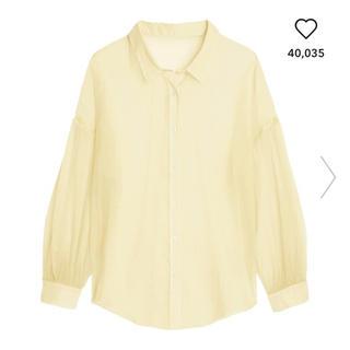 ジーユー(GU)のGU シアーボリュームスリーブシャツ(シャツ/ブラウス(長袖/七分))