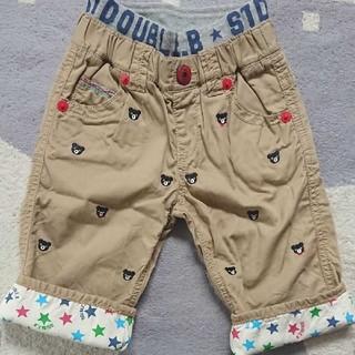 DOUBLE.B - 110☆ミキハウス ダブルB☆プチベア刺繍7分丈パンツ