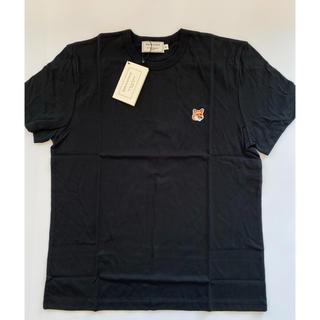 メゾンキツネ(MAISON KITSUNE')の【Mサイズ】新品 メゾンキツネ Maison Kitsune Tシャツ ブラック(Tシャツ(半袖/袖なし))