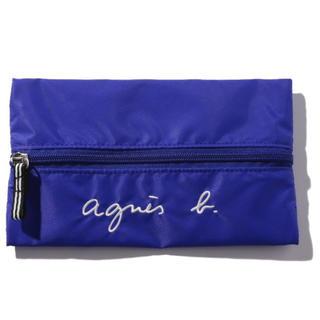 agnes b. - 新品 agnes b.ロゴ刺繍ペンケース ブルー