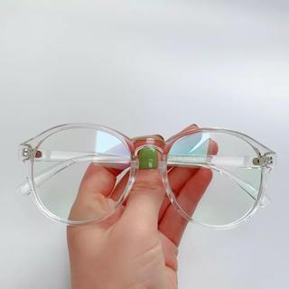 新品未使用!透明フレームの伊達眼鏡 クリア サングラス だてめがね(サングラス/メガネ)