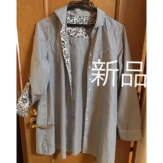 新品M-Lサイズ 長袖ストラップシャツ レディース (シャツ/ブラウス(長袖/七分))