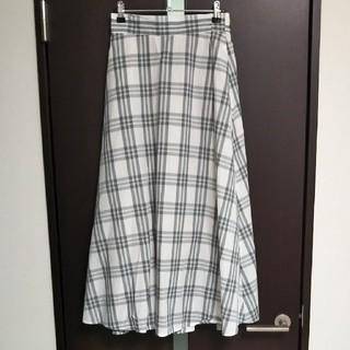 ジーユー(GU)のGUチェックロングスカート(ロングスカート)