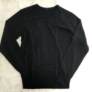 ムジルシリョウヒン(MUJI (無印良品))の無印良品  メリノウール 洗えるハイゲージクルーネックセーター ブラック(ニット/セーター)